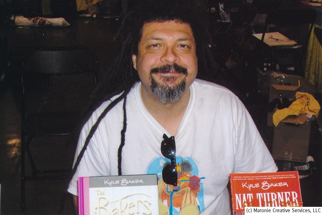 A mid-2000s photo of 'The Fifth Beatle' co-artist Kyle Baker.Taken at one of Shelton Drum's fabulous Heroes Cons.