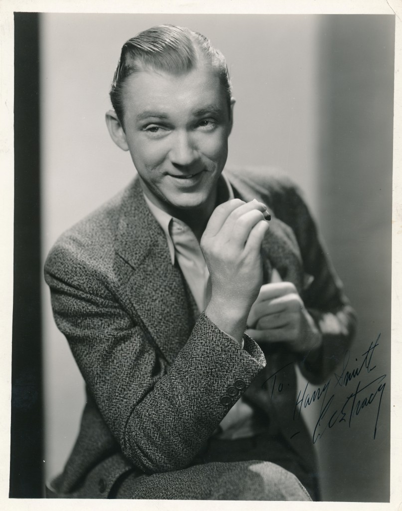 In celebration of TCM featuring a collection of actor Lee Tracy's films today, here's a signed photo of the actor I picked up at a memorabilia show just a few days ago! Tracy excelled at playing fast-talking  con-men, reporters, and other sharpies. He could be a bad-boy in real life. His outspokenness brought forth the ire of MGM pasha Louis B. Mayer, when Tracy dared to tell him where to jump. He was quickly dropped from the contract list. This great autographed portrait still is from the 1933 Universal film, 'Private Jones.' Photo is by acclaimed Hollywood photographer Freulich. (c) Universal