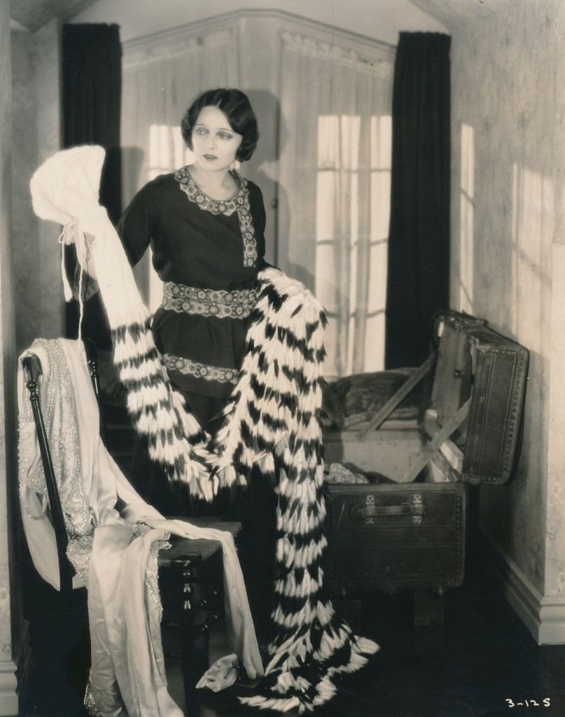 Star Corinne Griffith displays a wardrobe only a silent movie diva could own! She was hugely popular in the 1920s, known as 'The Orchid Lady of the Screen.' Griffith was an early casualty of sound films and soon left the business to become a successful writer.