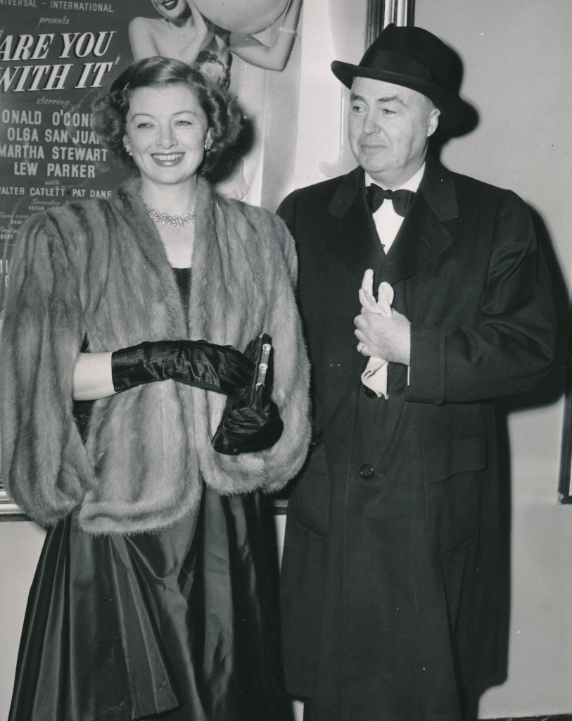 Myrna and her then-husband, producer Gene Markey, attend the Hollywood premiere of the film, 'Letter to an Unknown Woman' in 1948.
