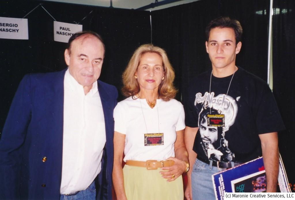This 2000 photo depicts the Naschy clan at a horror film convention held on the East coast. i'm not sure they understood everything that was said to them that weekend, but i know they appreciated all the love directed their way.