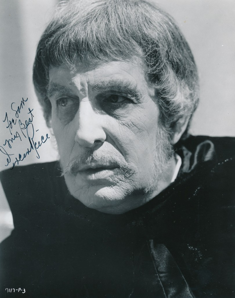 Here's a portrait of St. Louis' finest--Vincent Price--from his huge hit film 'The Abominable Dr. Phibes.' 'Phibes' and it's sequel 'Dr. Phibes Rises Again,' were both helmed by talented director Robert Fuest of British TV's 'Avengers' fame. The two films were inventive, clever and terribly funny! Too bad there weren't more in the series. (c) AIP