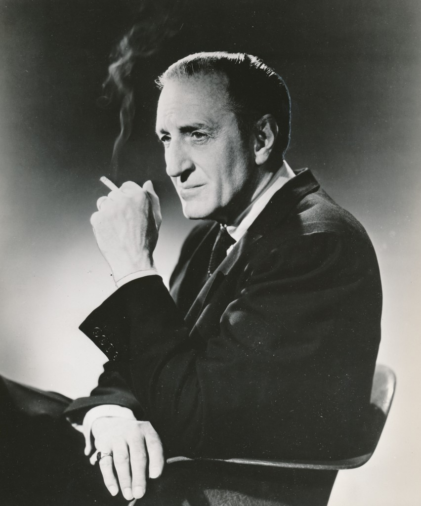 He hated being called a 'monster' star with a passion, but Basil Rathbone appeared in too many terror flicks to shake off that title. 'Son of Frankenstein,' 'The Black Cat,' 'The Magic Sword' and other fantasy films cemented him in that special niche forever. But then again, he hated being identified with his hugely popular 'Sherlock Holmes' series of films, too! This is an early-1960s management agency portrait of the English actor.