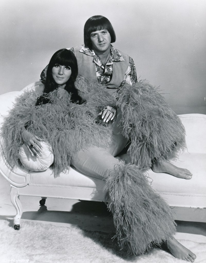 Here's the gruesome twosome, 1967's Sonny and Cher, from their ill-fated screen opus, 'Good Times.' During this period, Sonny was certainly a Svengali to Cher's Trilby. Dig that way-out proboscis on Cher .Can you believe this movie was directed by William Friedkin, who helmed 'The Exorcist?' Some might say 'Good Times' was just a warm-up for his cinematic stomach-turner. (c)