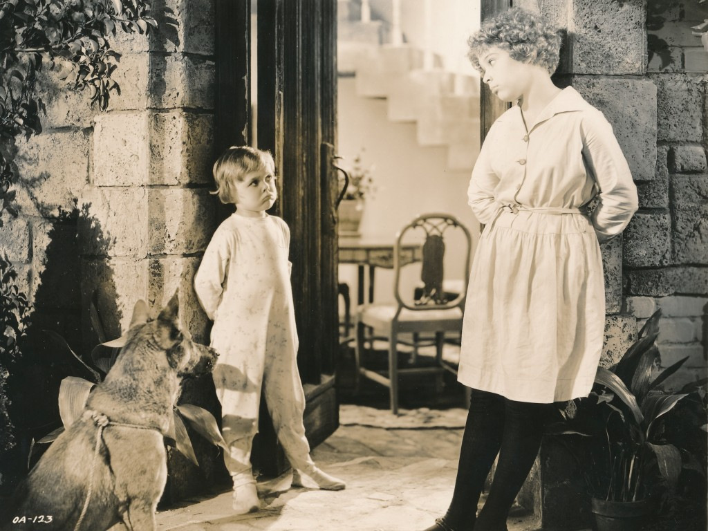 RKO Pictures produced an early-talkie version of 'Little Orphan Annie' starring child star Mitzi Green (r).  This 1932 opus was the first effort at putting Harold Gray's comic-strip heroin to film. (c) RKO