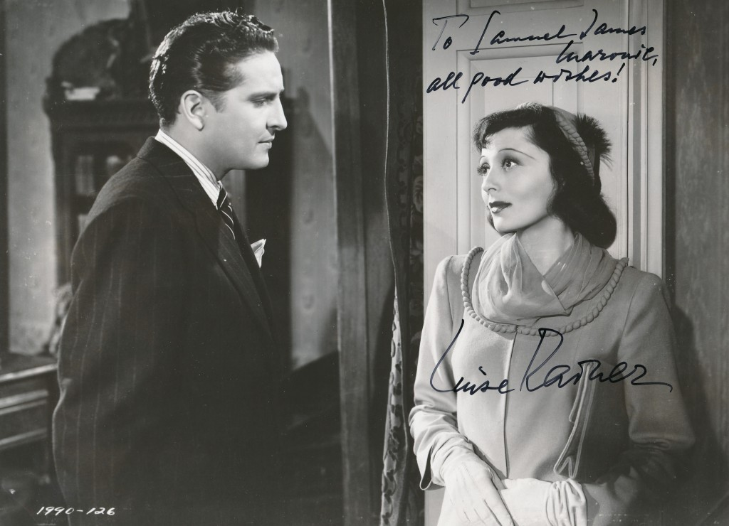 After leaving glamorous MGM, Rainer made a tepid wartime film for Paramount. This still is from the dreary 1943 'Hostages.' She's with actor Arturo de Cordoba. (c) Paramount Pictures