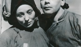Ms. Rainer won her second Academy Award for her role as O-Lan in the MGM film, 'The Good Earth,' in 1937. Here she's posed with her co-star, Paul Muni. Both were born Austrian Jews, but convincingly portrayed Eastern characters in this classic movie.