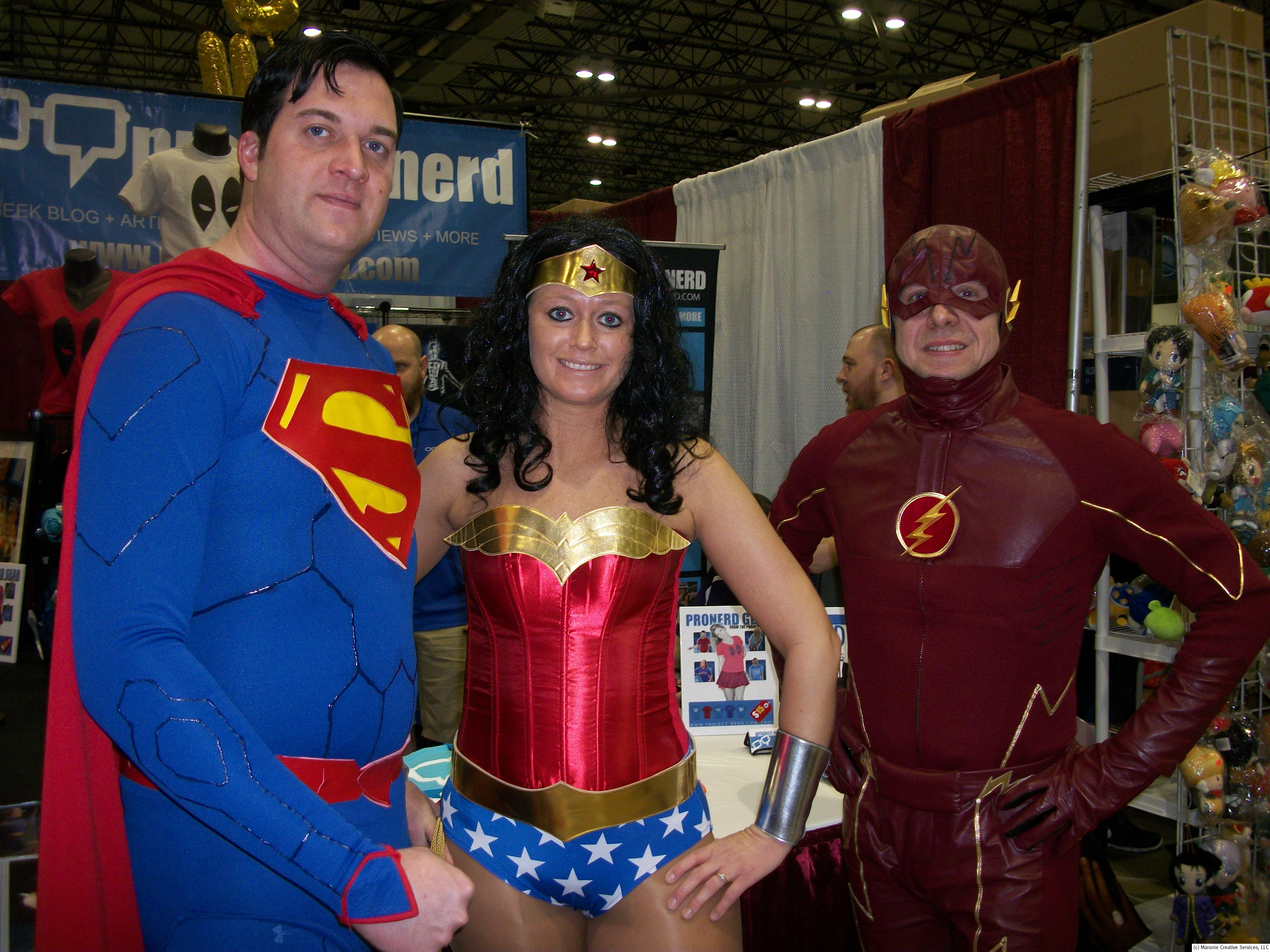 of course cosplay was in full blossom during the event here dc icons superman