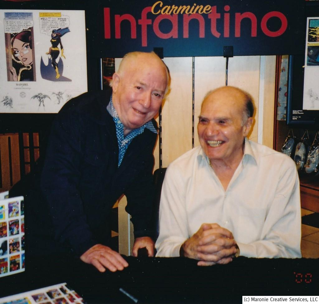 The usually-stoic artist Carmine Infantino would more often than not, be reduced to hysterics by irwin Hasen's antics. They were two real pioneers of comics' Golden Age!