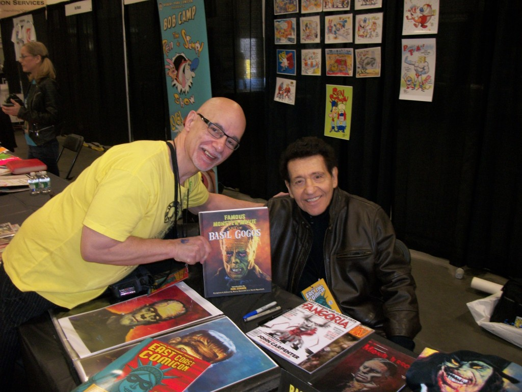 Here i am with a true pop-culture MASTER---artist Basil Gogos. His work graced many a monster magazine purchased by your author during the 1960s and 1970s. Sorry to say Mr. Gogos is ailing as of late. We wish him the best!