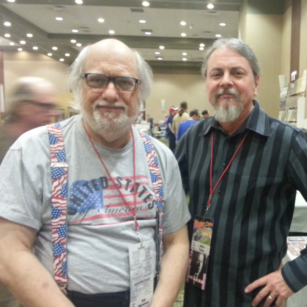 Two representatives of Pulp Royalty. That's Robert Weinberg on the left, one of the true experts of the pulp business. I first met Bob 43 years ago at St. Louis Pulpcon 1972. That's historian John L. Coker, Jr. on the right. John has devoted his life to studying and preserving science-fiction and fantasy from the earliest days.