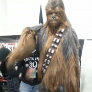 There were some fantastic costumes at ECC! Isn't this Wookie fantastic! Looks like he just stepped off the Millenium Falcon, doesn't he---or it?