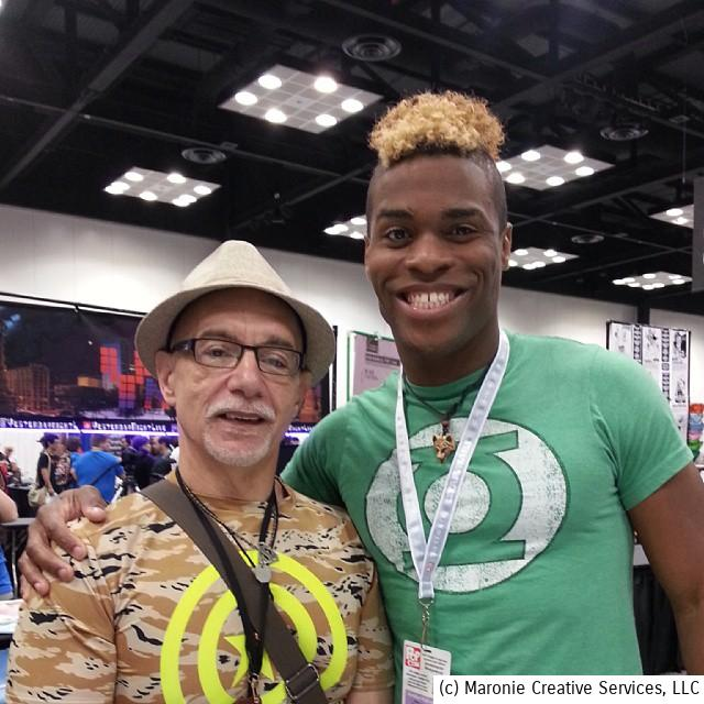 Ye Blogmeister and Rashaad Santiago pose during a break at Indy PopCon, June of 2015.
