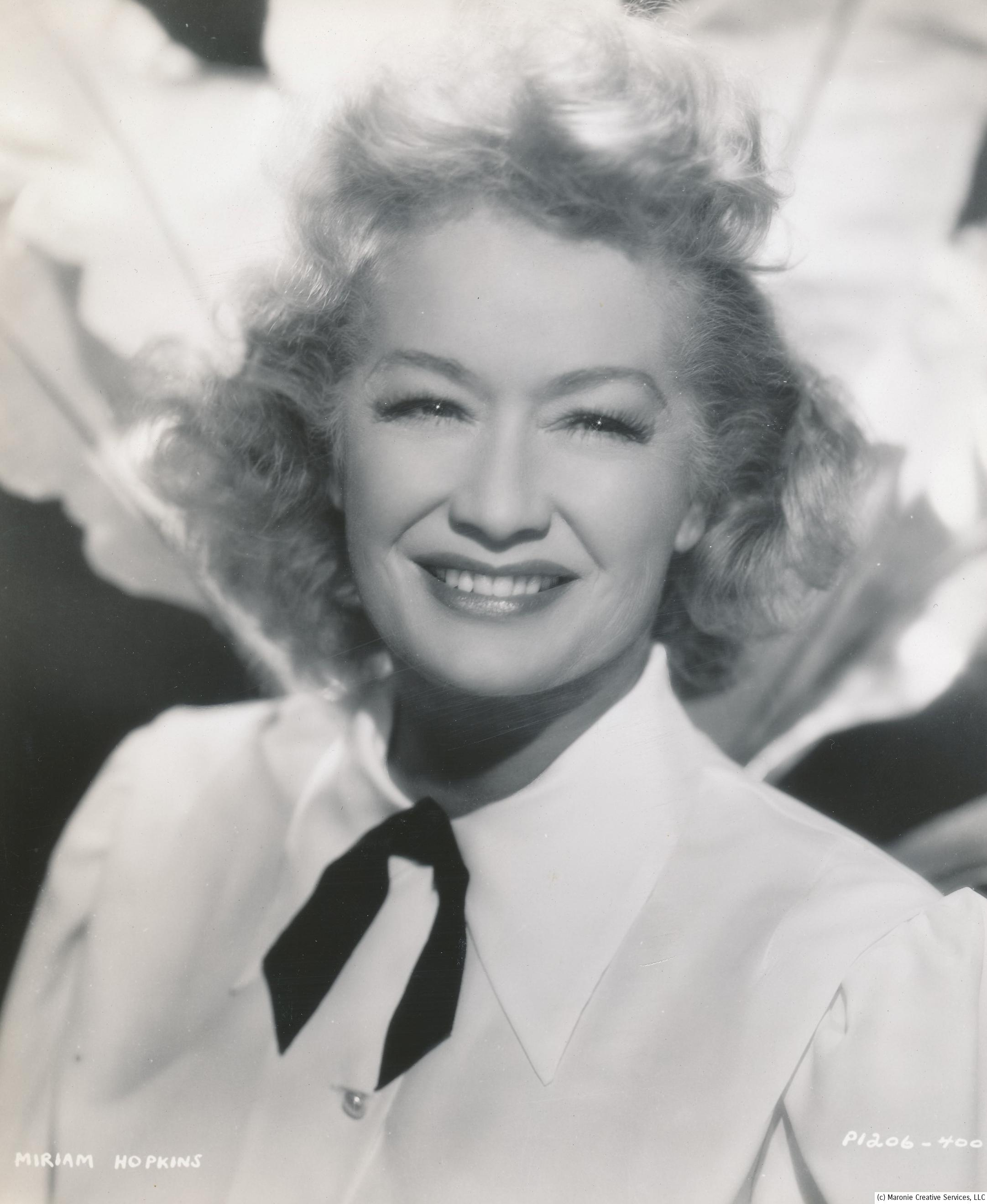 MIRIAM HOPKINS - Sam Maronies Entertainment Funhouse ...